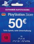 PlayStation Network Code - 50 Euro DE Store (Code per E-Mail) *