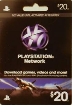 PlayStation Network Code - 20 Dollar (Code per E-Mail) *