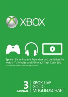 XBox Live 3 Monate Gold (Code per E-Mail) *