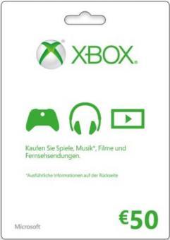 XBox Live Code 50 Euro (für Region DE & AT) - Code per E-Mail *