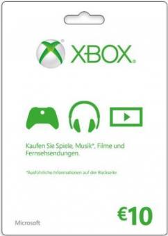XBox Live Code 10 Euro (für Region DE & AT) - Code per E-Mail *