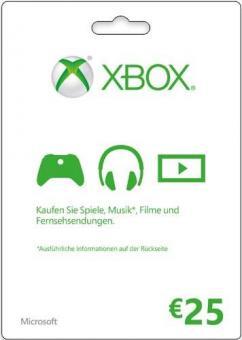 XBox Live Code 25 Euro (für Region DE & AT) - Code per E-Mail *