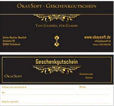 Wertgutschein OkaySoft - 100 Euro